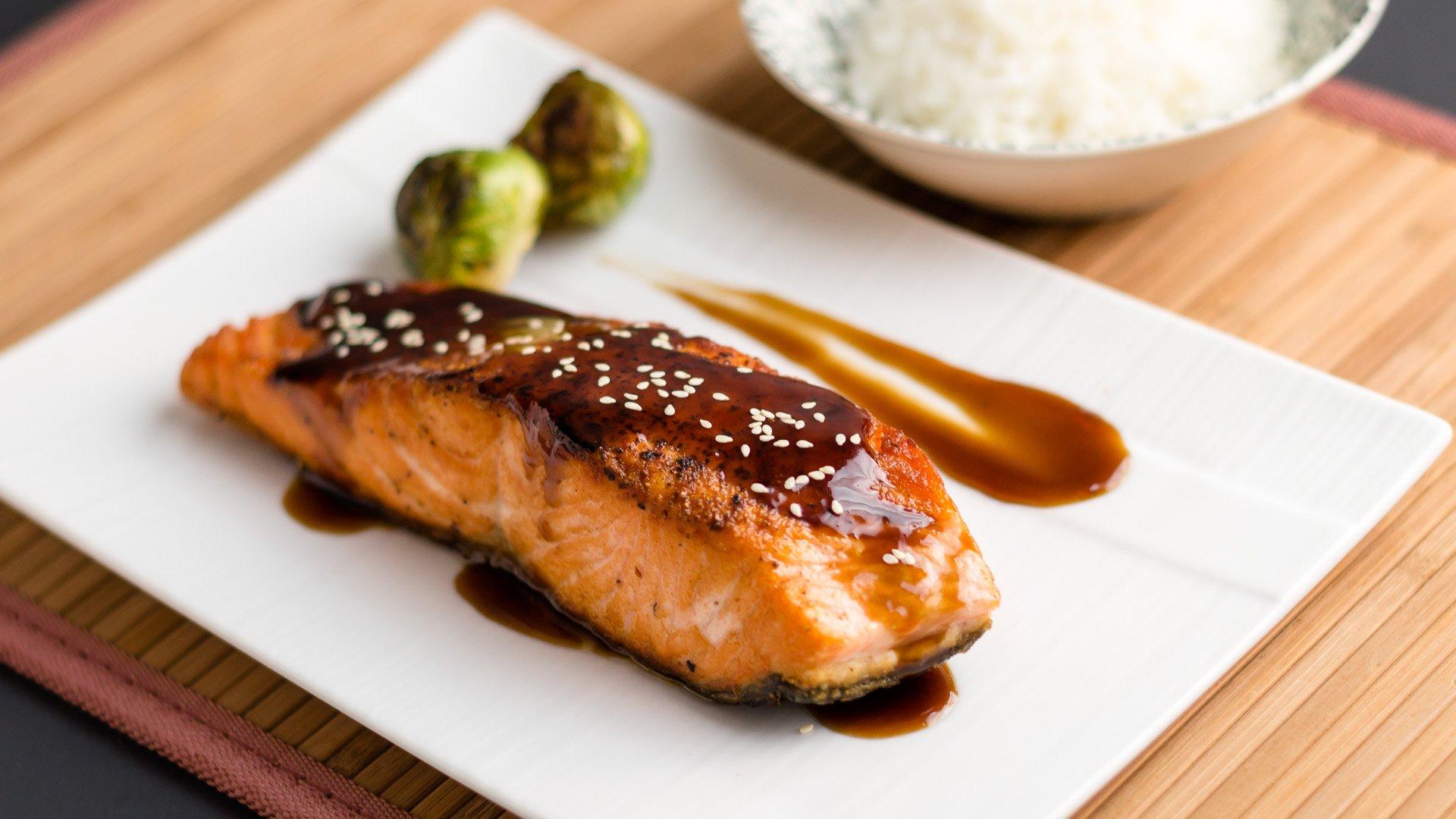 teriyaki mushroom sauce with grilled salmon chicken teriyaki teriyaki ...
