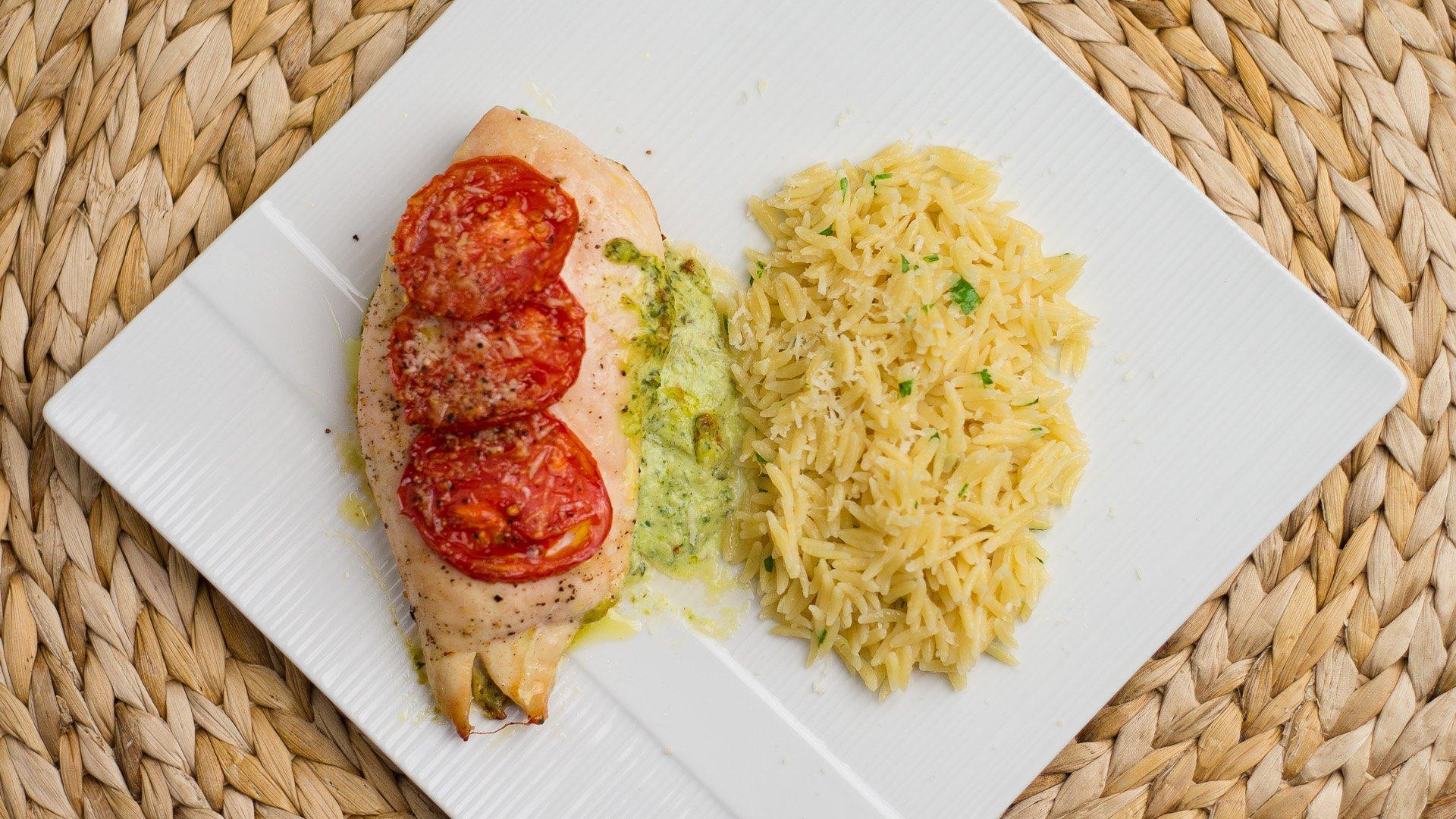 Pesto Cheese Stuffed Chicken Recipe - ChichiLicious.com