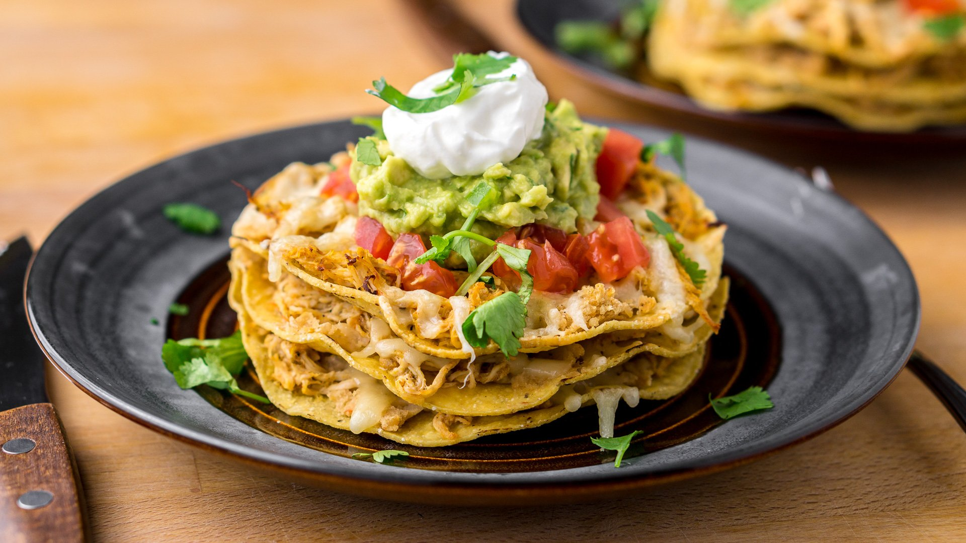 Chicken Tostada Stack Recipe - ChichiLicious.com