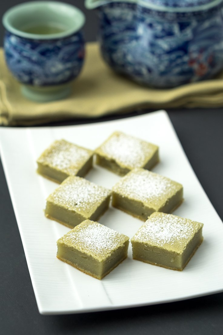 Green Tea Mochi Cake Recipe Chichilicious Com